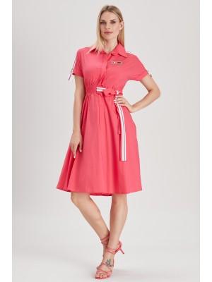 Sensiline - 211022 Fusya Pamuk Elbise