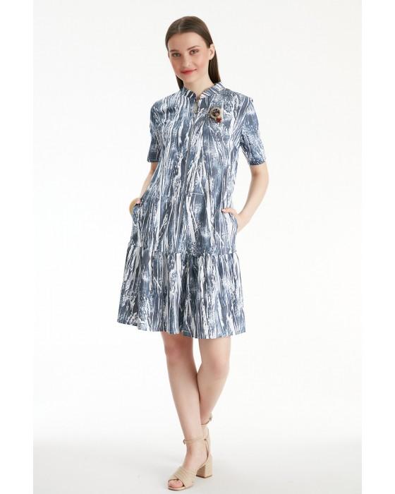 Sensiline - 211155 İndigo Elbise