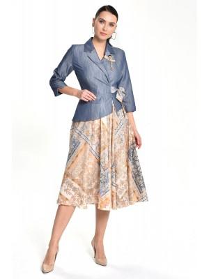 Sensiline - 212803 Hardal Çiçek Elbise